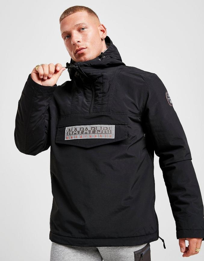 casaco meio fecho preto
