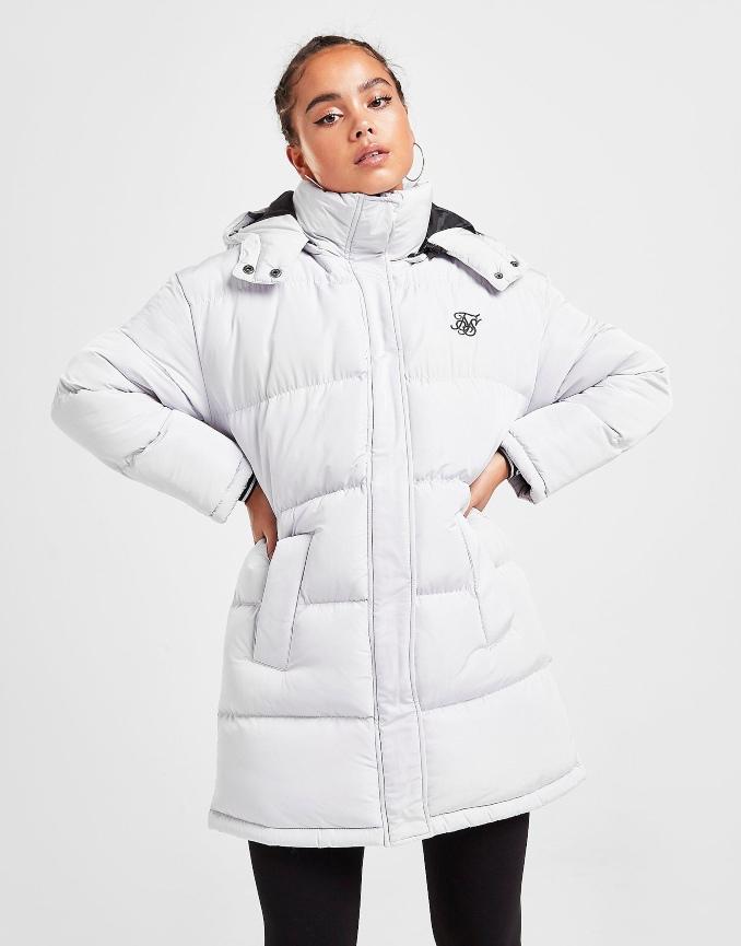 casaco parka branco