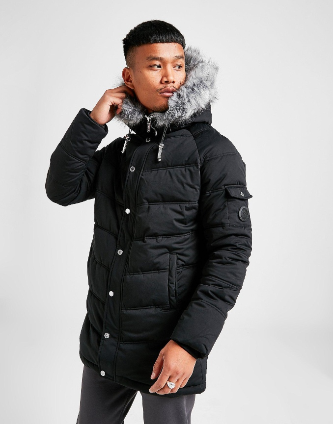 casaco pelo sintético preto