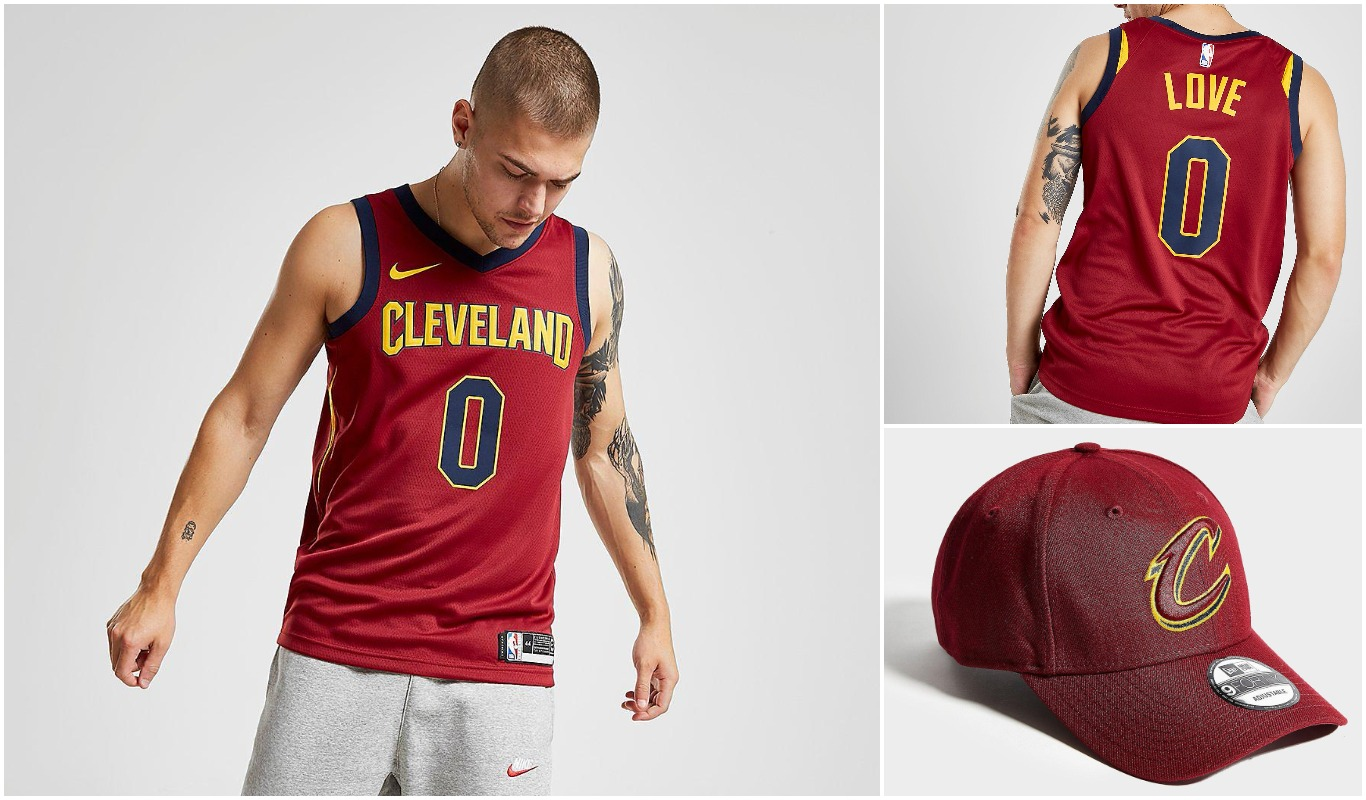 Gorra y camiseta de Cleveland Cavaliers