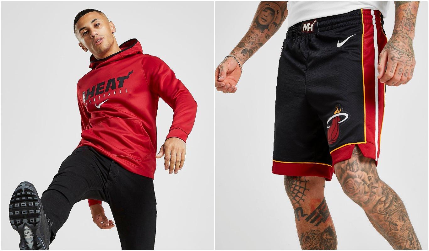 Sudadera y pantalón corto de Miami Heat para hombre