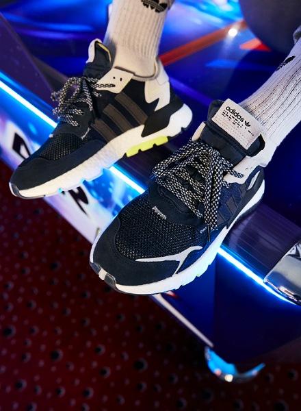 adidas Originals Nite Jogger dames zwart