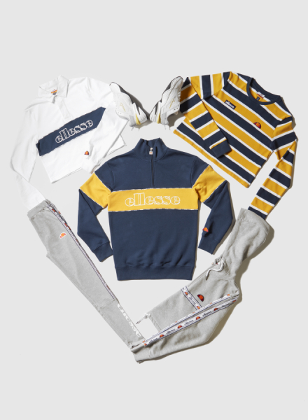 Ellesse Panel Rugby sweater en Tape Panel legging