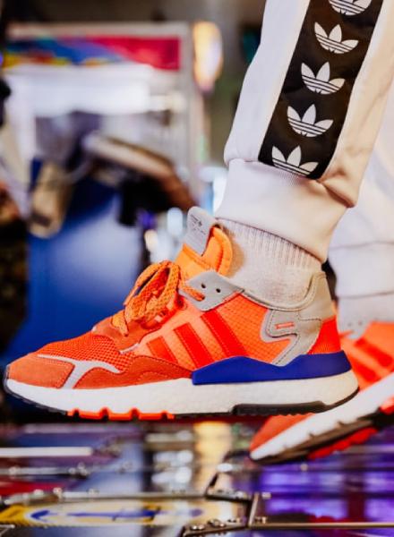 adidas Originals Nite Jogger blauw oranje