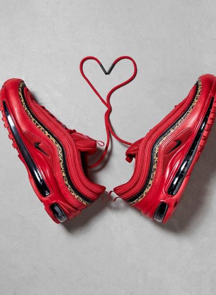Nike Air Max 97 OG rood leopard detail