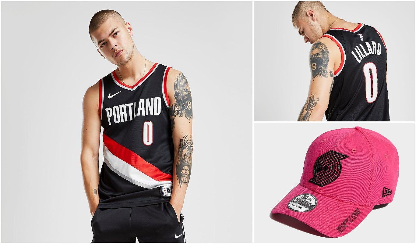 Camiseta y gorra de Portland Trail Blazers