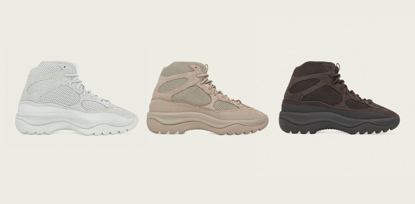 Tres colores de Yeezy Desert Boot